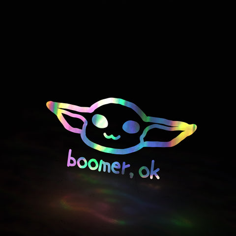 baby yoda - boomer, ok (decal)