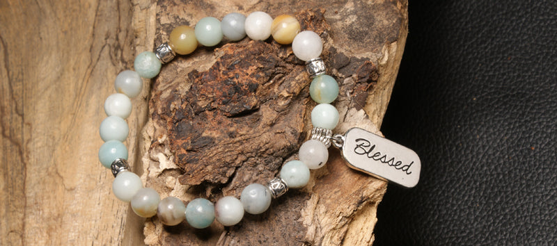 christian jewelry natural stone bracelet brown