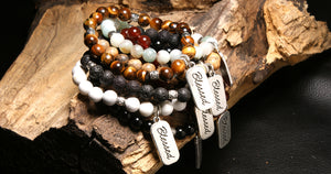 christian jewelry natural stone bracelet