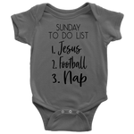 custom christian baby onesie- gray- Faith + Fashion