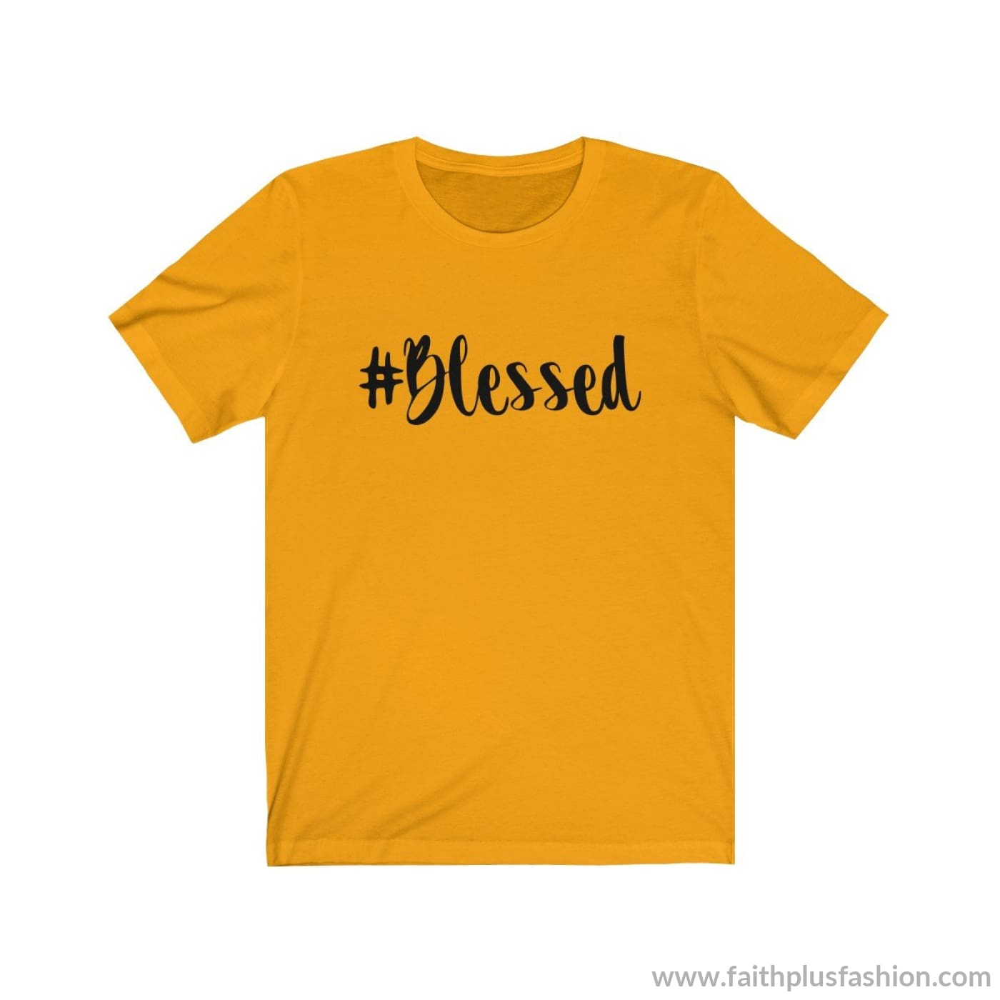 #blessed Christian Tee Shirt - Gold / Xs - T-Shirt