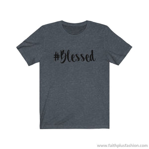 #blessed Christian Tee Shirt - Heather Navy / Xs - T-Shirt