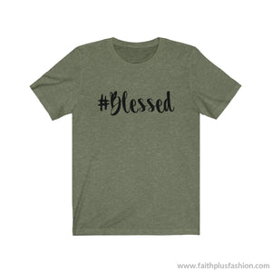 #blessed Christian Tee Shirt - Heather Olive / Xs - T-Shirt