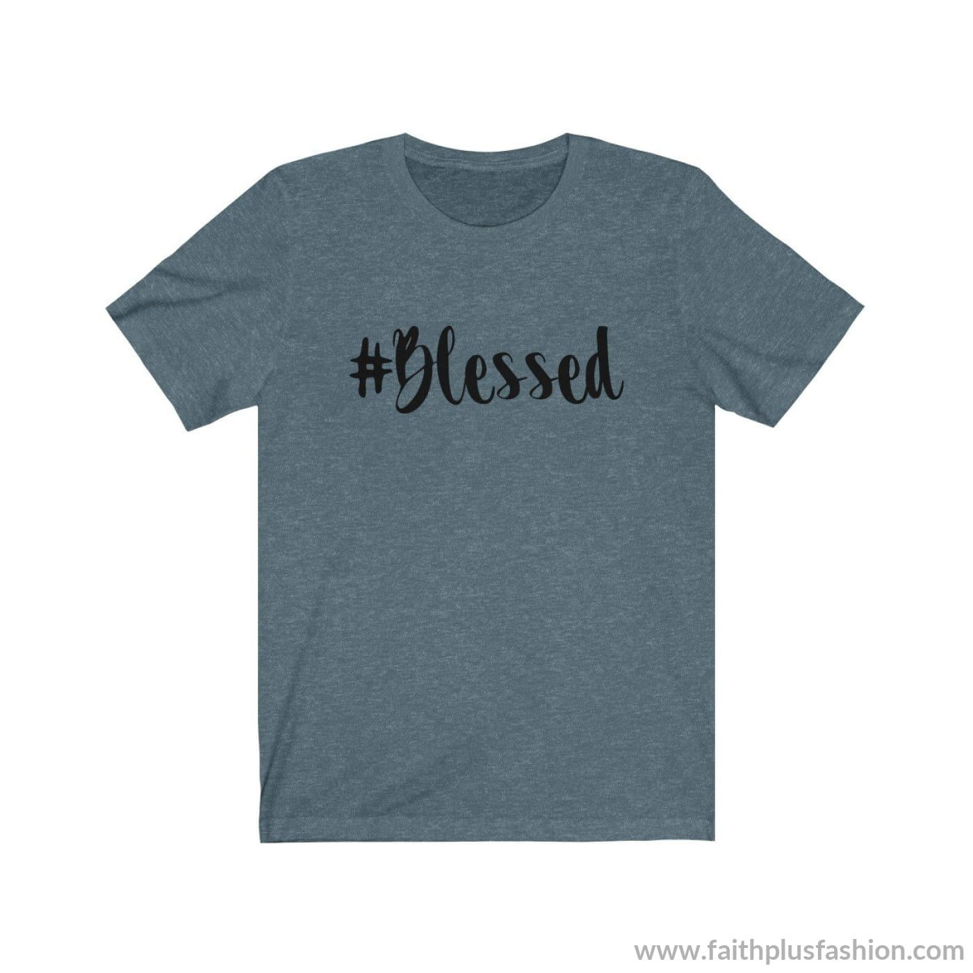 #blessed Christian Tee Shirt - Heather Slate / Xs - T-Shirt