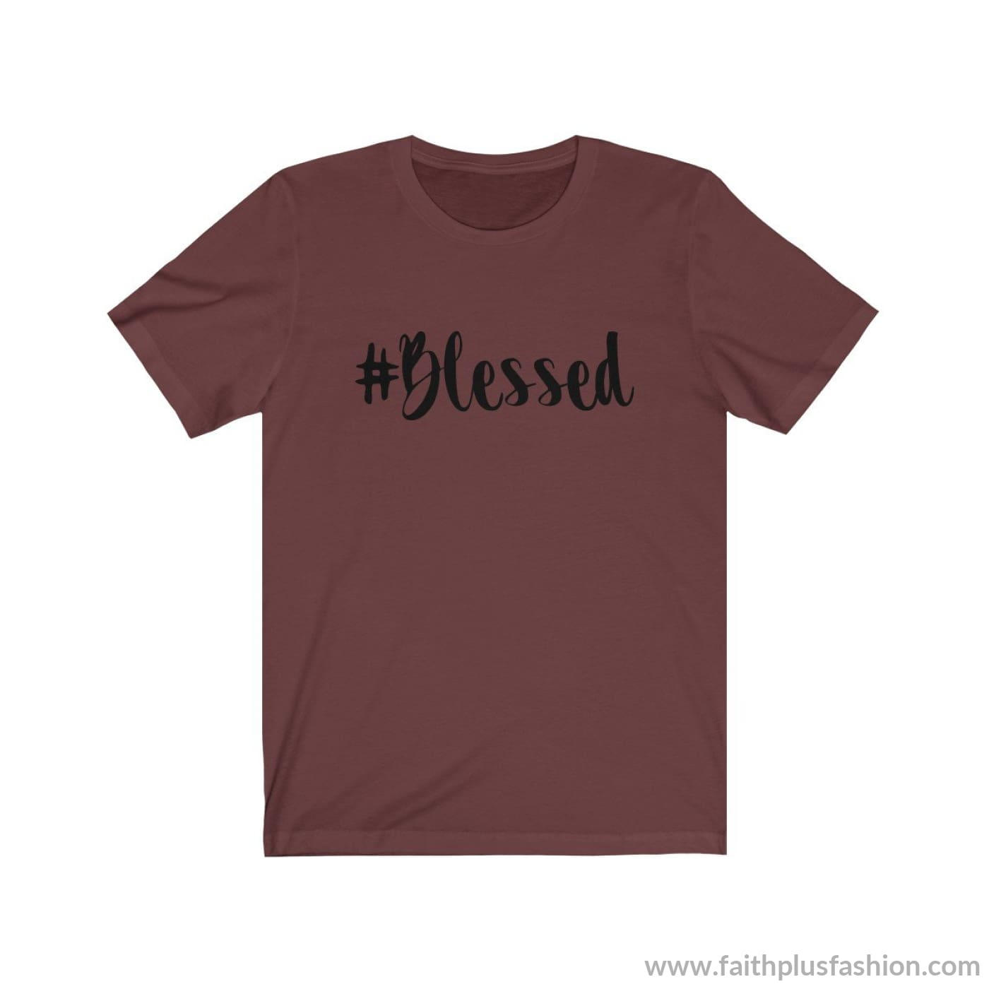 #blessed Christian Tee Shirt - Maroon / Xs - T-Shirt