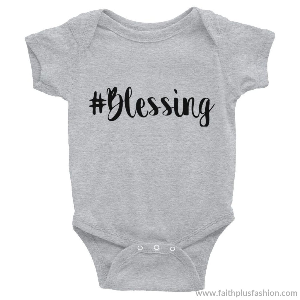 #blessing Custom Baby Onesie - Heather / 6M - Baby Bodysuit