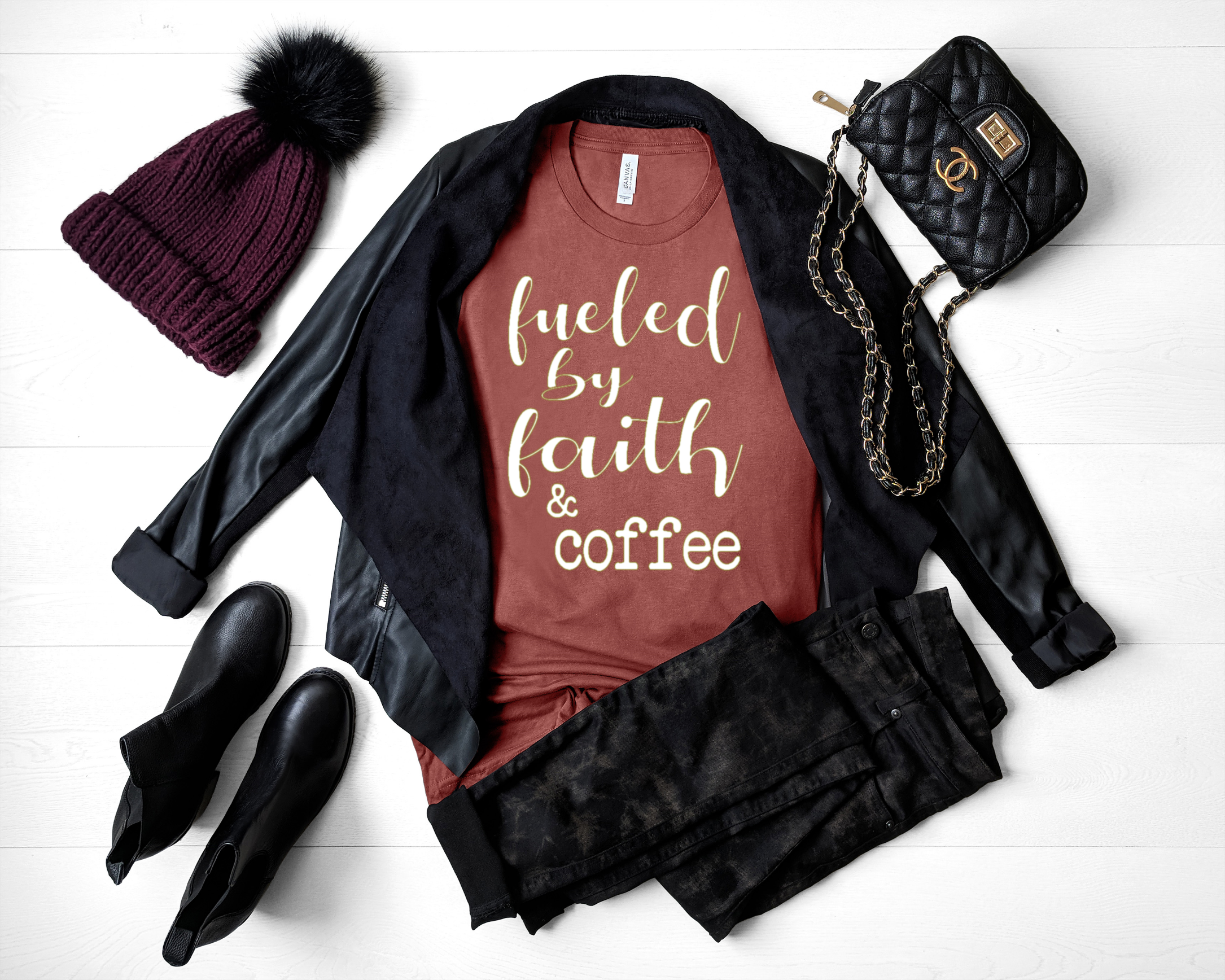 Fueled By Faith And Coffee Christian Shirt