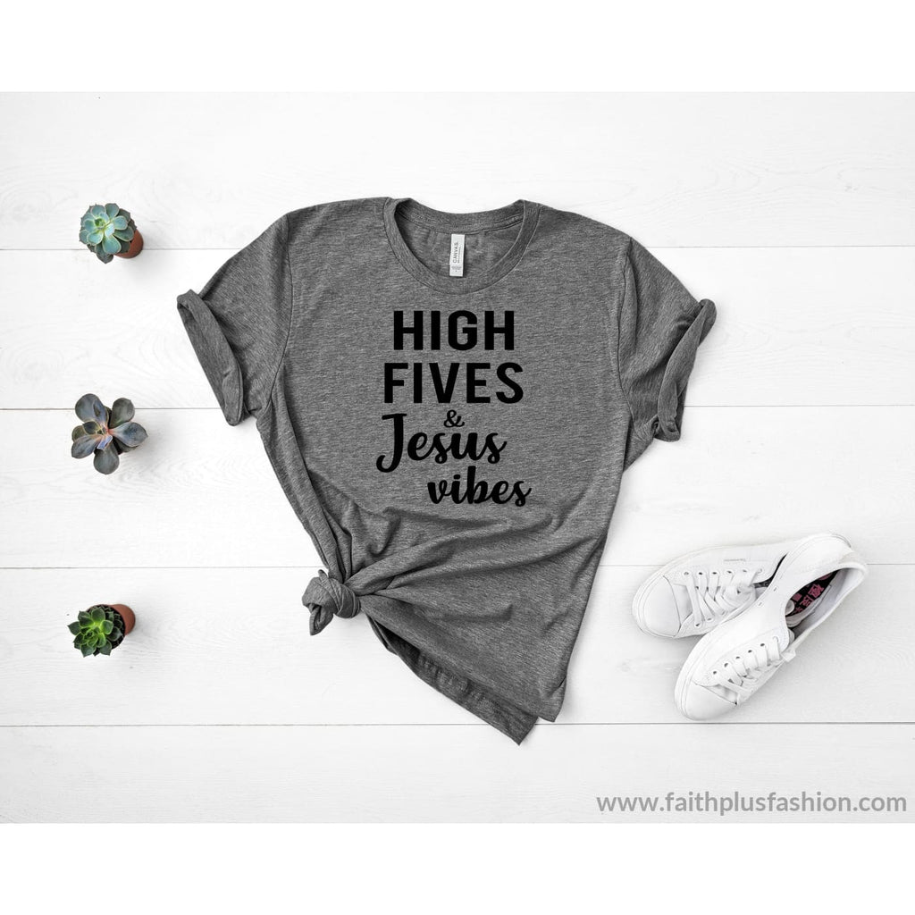 High Fives & Jesus Vibes Short-Sleeve Unisex T-Shirt - T-Shirt