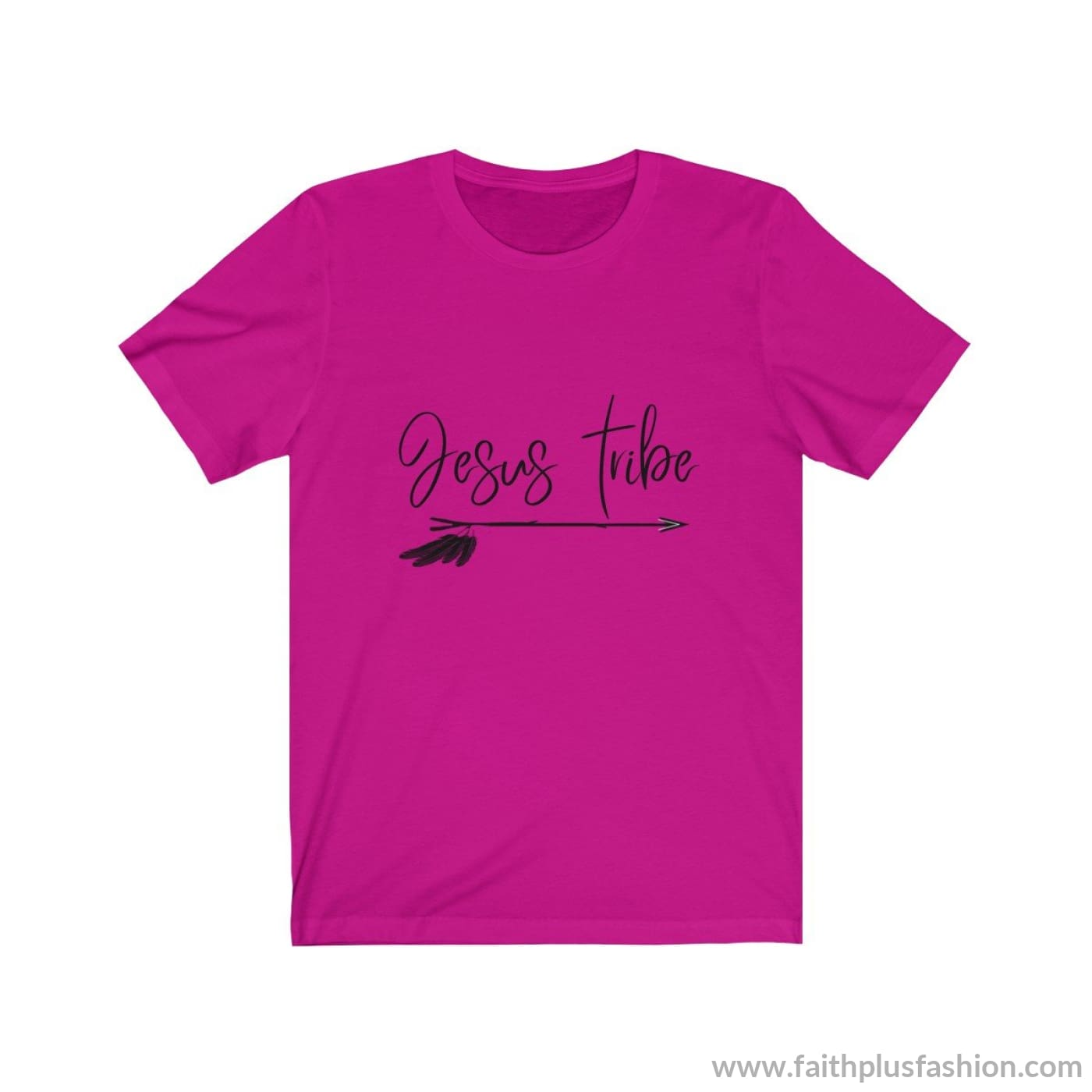 Jesus Tribe Unisex Short Sleeve Tee - Berry / Xs - T-Shirt