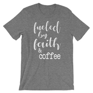 Fueled By Faith And Coffee Christian Shirt - Deep Heather / Xs