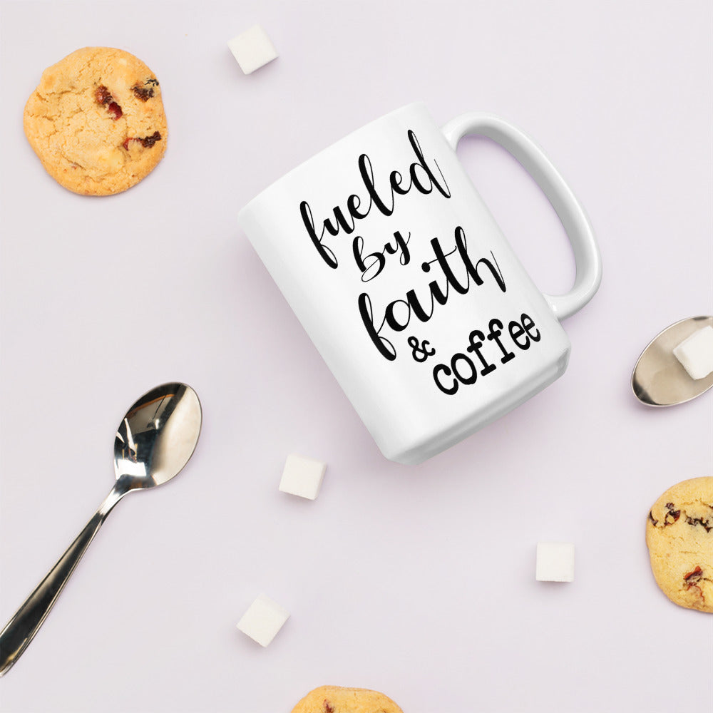 Fueled by Faith & Coffee Christian Coffee Mug