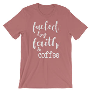 Fueled By Faith And Coffee Christian Shirt - Mauve / S