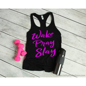 Wake Pray Slay Womens Christian Tank Top - Tank Top