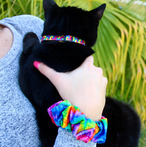 Tie Dye Cat Collars