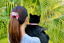 Hot Pink Floral Cat Collars