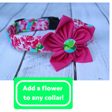 Hot Pink Floral Dog Collar