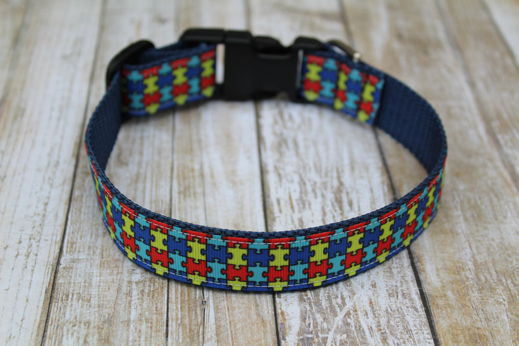 Autism Awareness Dog Collar