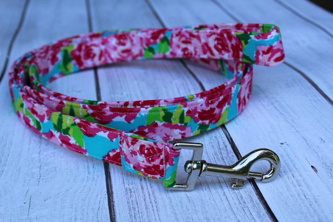 Hot Pink Floral Dog Leash