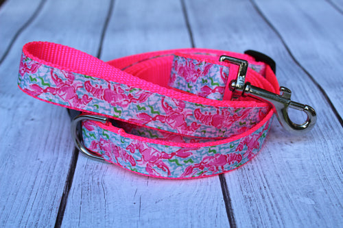Lilly Inspired Lobster Dog Leash