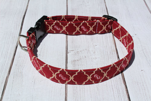 FSU Quatrefoil Dog Collar