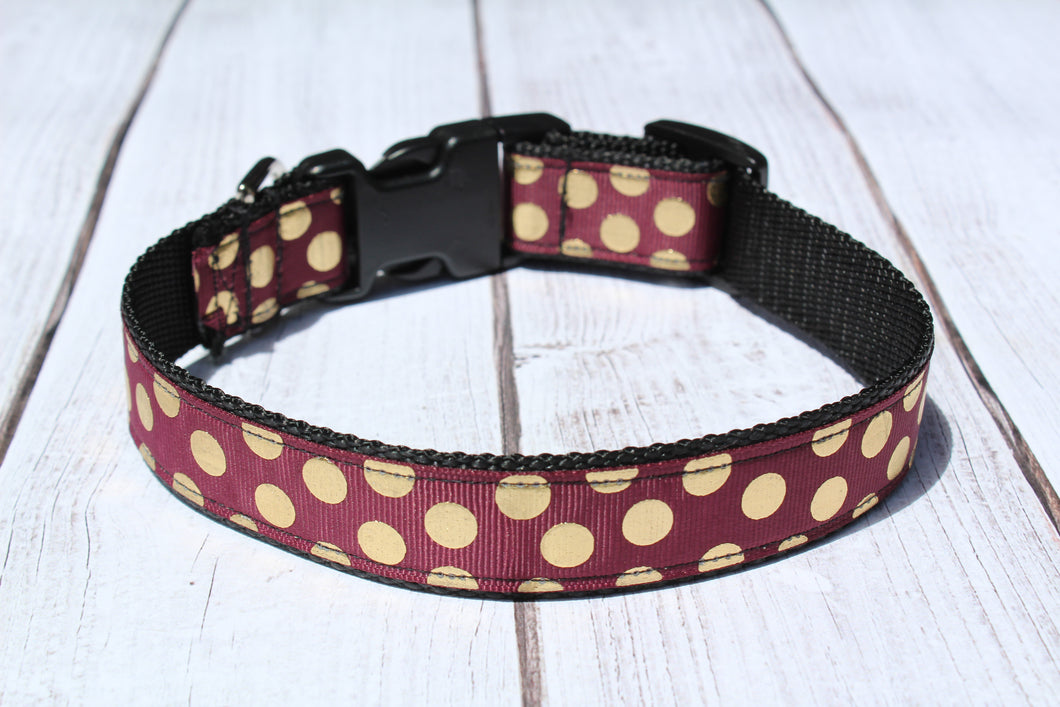 Florida State Seminole Polka Dot Dog Collar