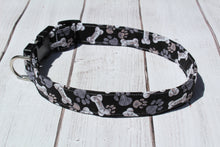 Black and White Bone Dog Collar