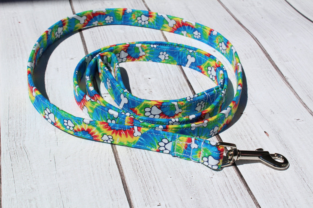 Tie Dye Bone Dog Leash