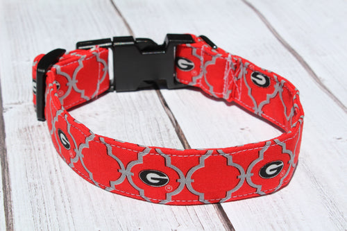 UGA Quatrefoil Dog Collar