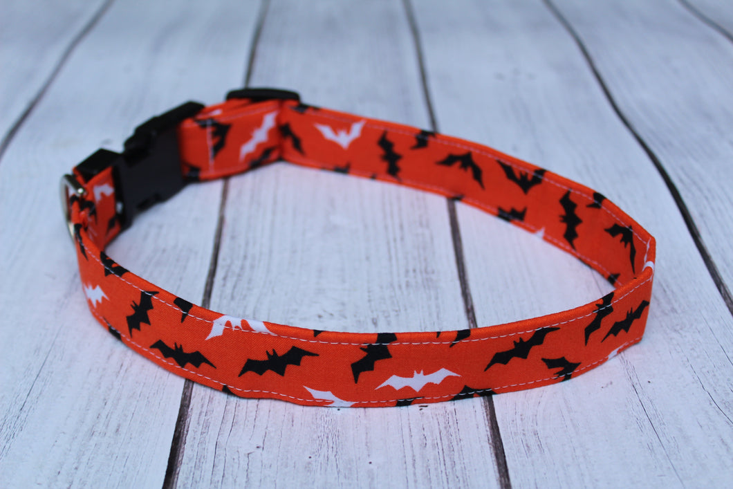 Halloween Bats Dog Collar