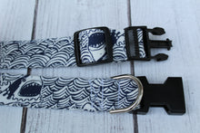 Navy Shark Dog Collar