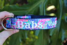 Lilly Inspired Tropical Leaves Dog Collar