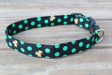 Polka Dot Shamrocks Dog Collar