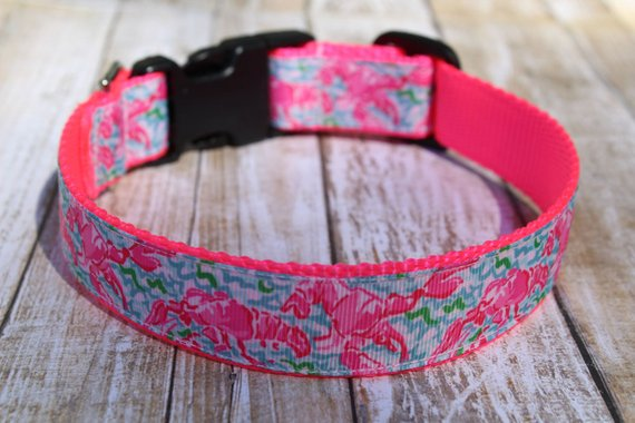 Lilly Inspired Lobster Dog Collar