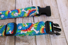 Tie Dye Bone Dog Collar
