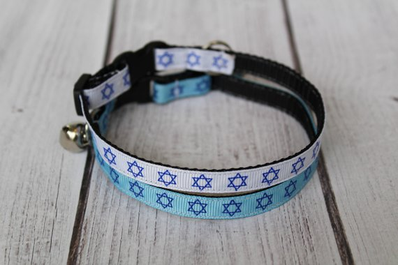 Star of David Cat Collars