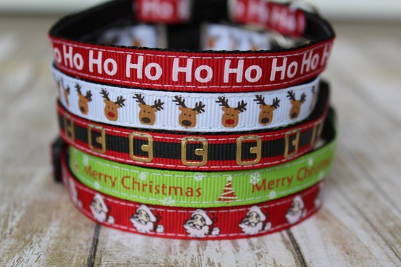 Santa Themed Cat Collars