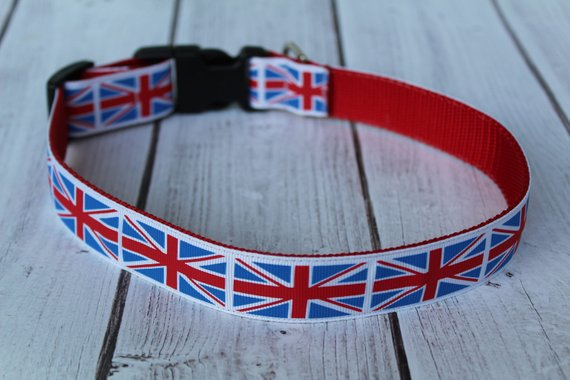 Union Jack Dog Collar