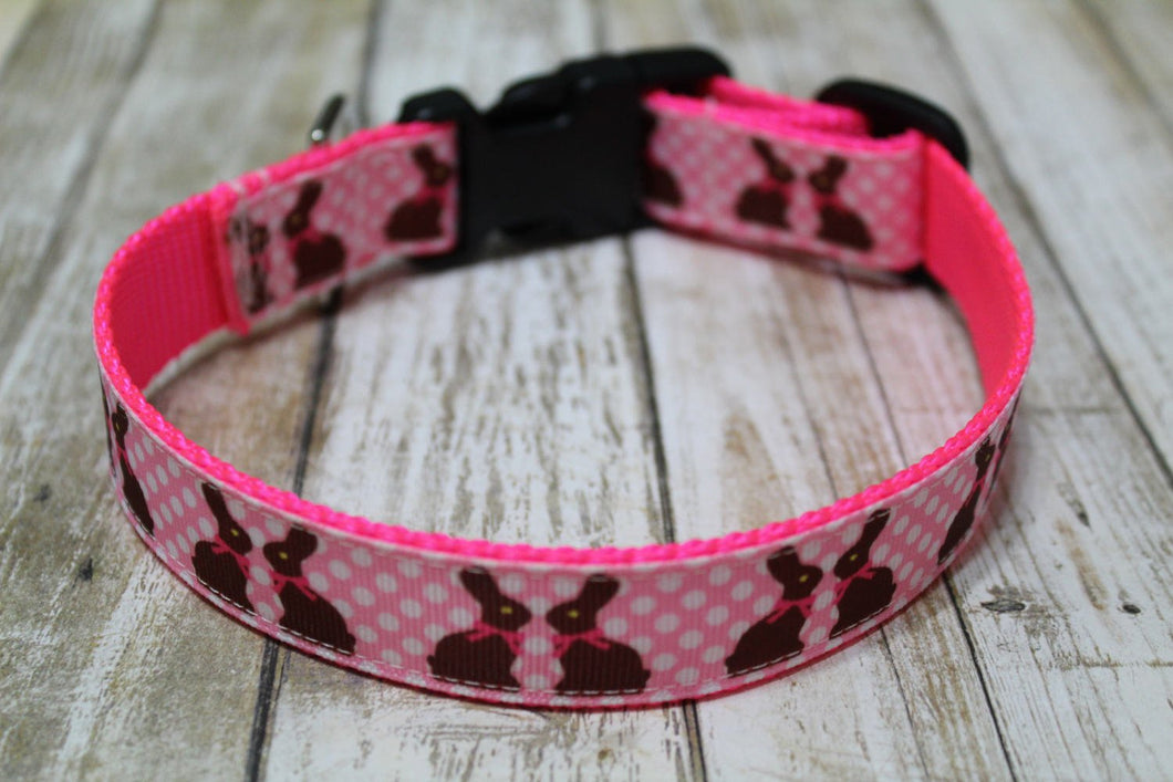 Chocolate Bunny Dog Collar