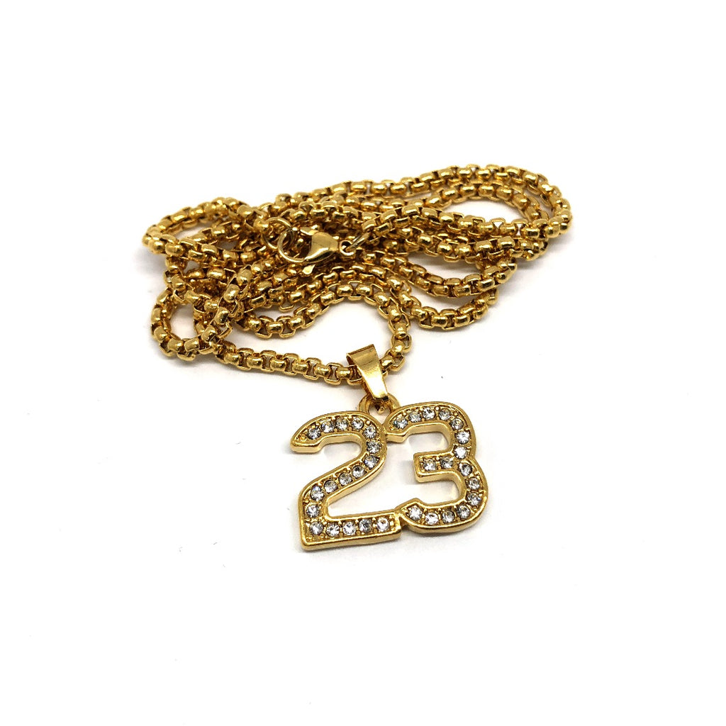 24in 3mm Rolo Chain With Number 23 Pendant STL_016 - WORLDSTARBLING