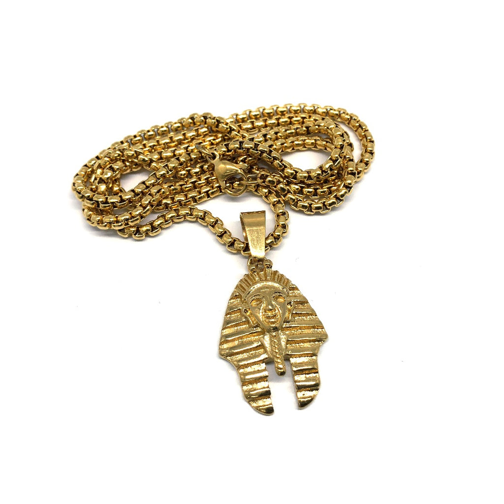 24in 3mm Rolo Chain With Pharaoh Pendant XS STL_015 - WORLDSTARBLING