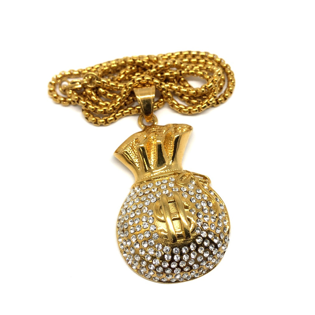 24in 3mm Rolo Chain With Money Bag Pendant STL_006 - WORLDSTARBLING
