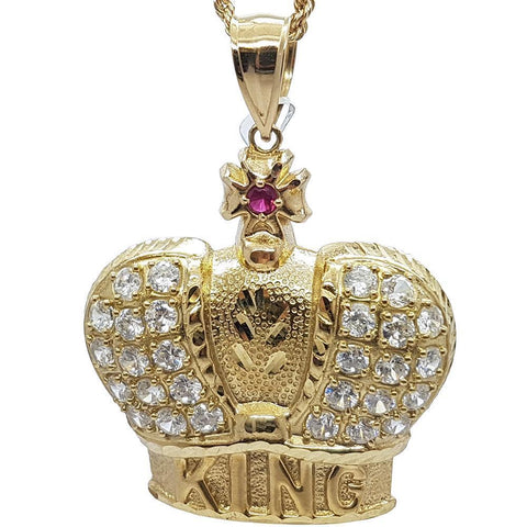 Rope Chain 2.5MM 10K With king en OR 10K MNG-132 - WORLDSTARBLING