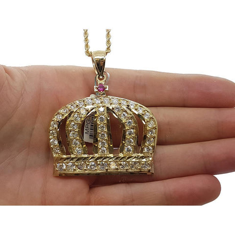 Rope Chain 2.5MM 10K With Royal en OR 10K MNG-135 - WORLDSTARBLING