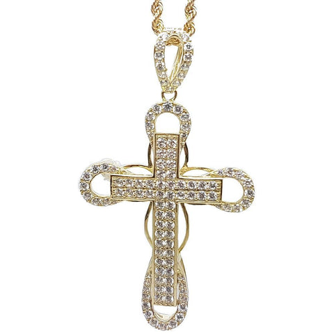 Rope Chain 2.5MM 10K With Cross OR 10K MNG-127 - WORLDSTARBLING