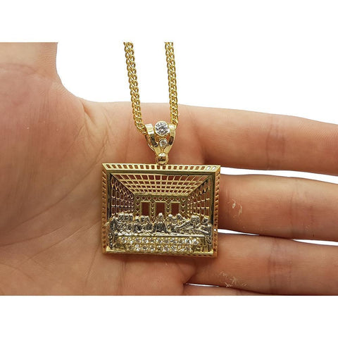 Chaine Franco 10K & Last Supper Jesuss 10K MNG-069 - WORLDSTARBLING