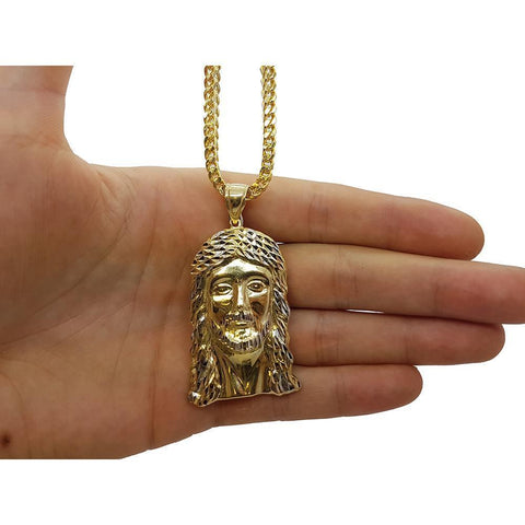 10K Franco 3.5MM& Jesus en or 10K MNG-093 - WORLDSTARBLING