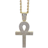 Rope Chain 2.5MM 10K With Cross OR 10K MNG-011 - WORLDSTARBLING
