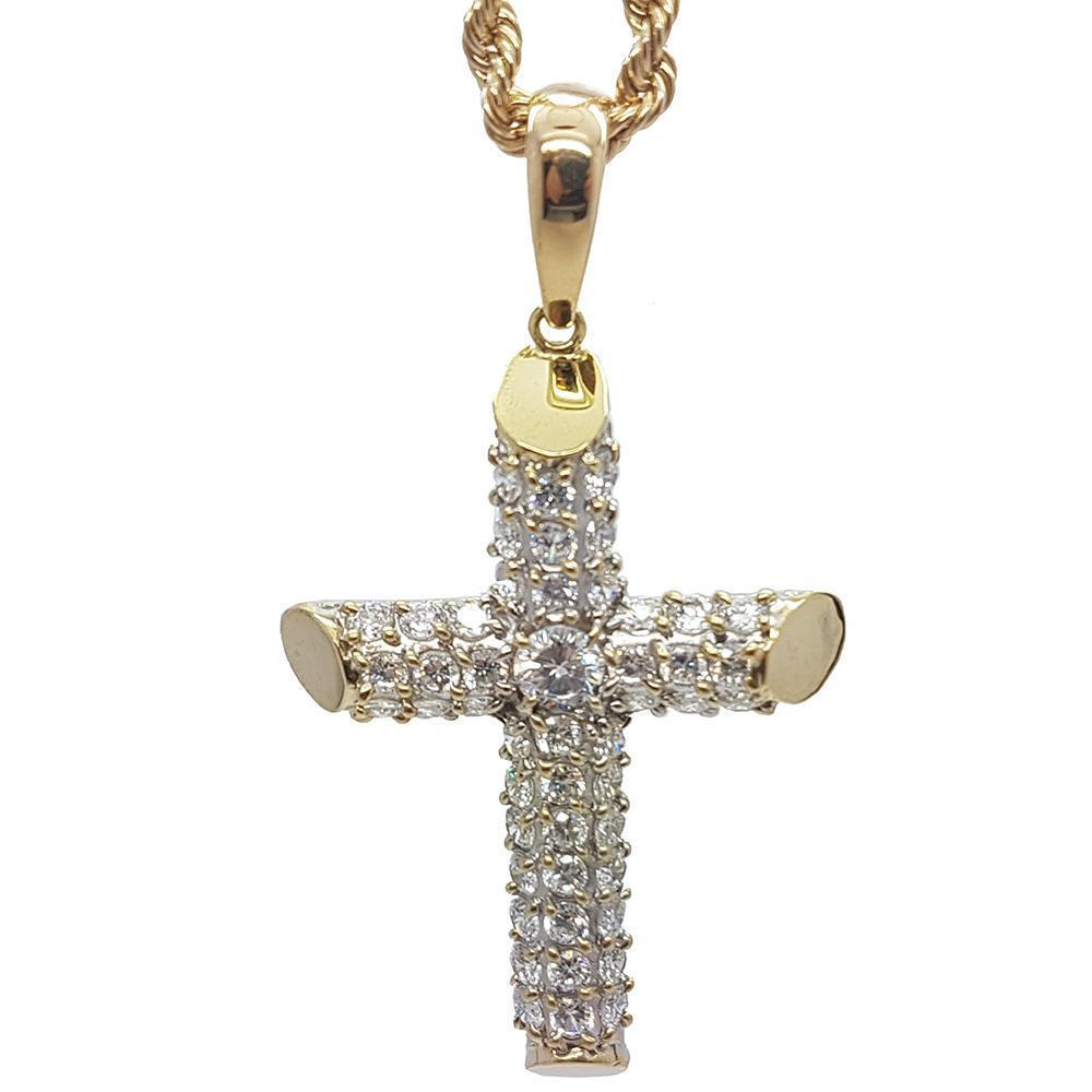Rope Chain 4.0MM 10K With Cross OR 10K MNG-013 - WORLDSTARBLING