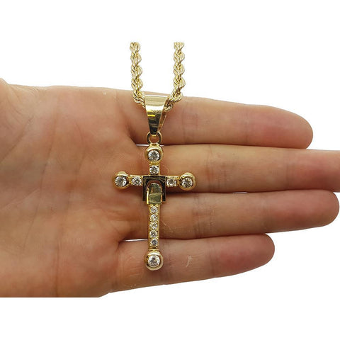 Rope Chain 4.0MM 10K With Cross OR 10K MNG-014 - WORLDSTARBLING