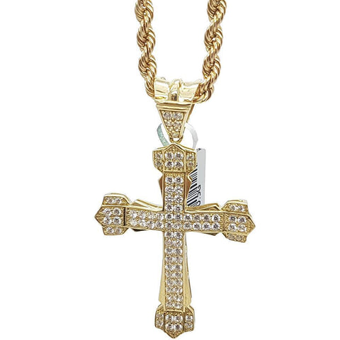 Rope Chain 4.0MM 10K With Assisi en OR 10K MNG-015 - WORLDSTARBLING